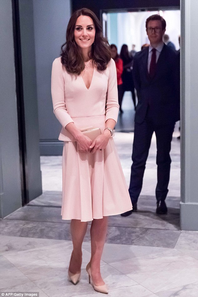 The Duchess of Cambridge (pictured at the National Portrait Gallery in London, May 2016) is the fashionista women in the UK most want to emulate, according to a new study