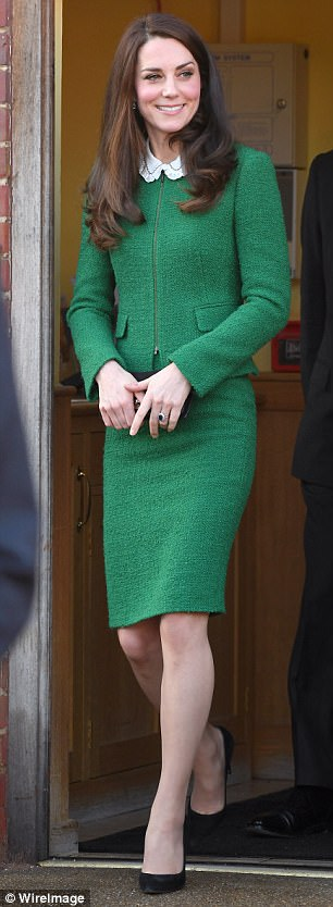 For a visit to East Anglia's Children's Hospices in January, its Royal patron chose an emerald green suit by high street chain Hobbs