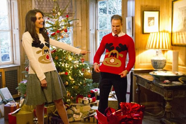 OK, it was a spoof, but the picture of Kate and William in festive jumpers sparked widespread hilarity