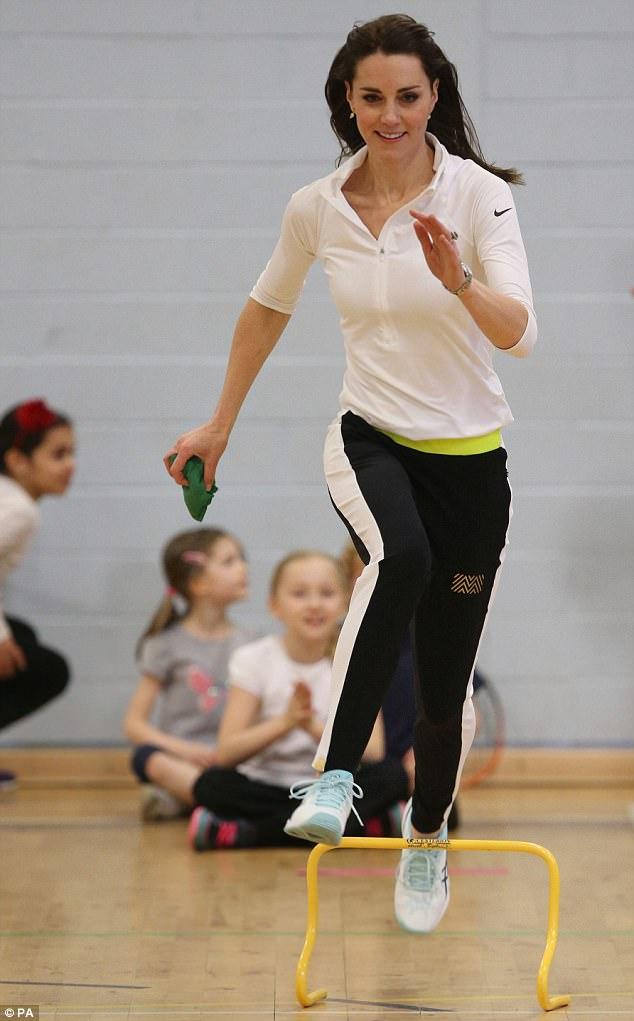 When Kate showed off her skills at a tennis workshop, organised by Andy Murray's mother Judy, in February 2016, she turned to sports brand Nike