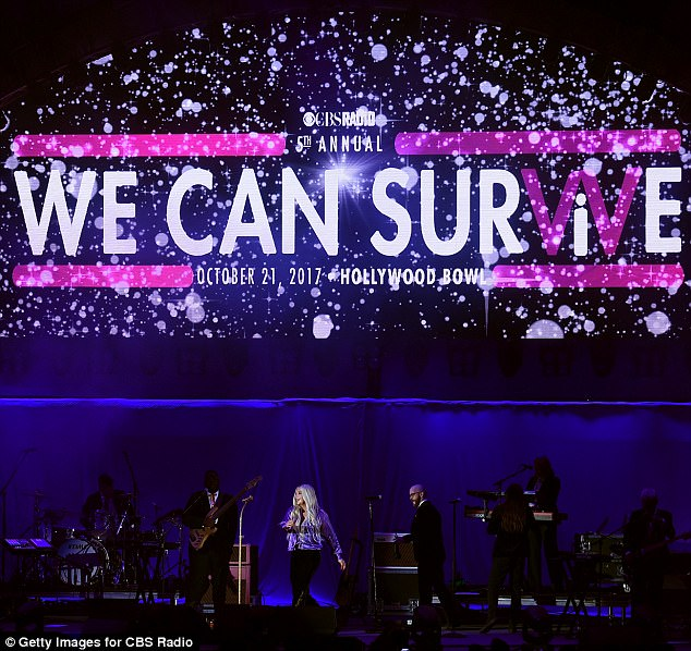 Survivor: Kesha performed onstage at CBS RADIO
